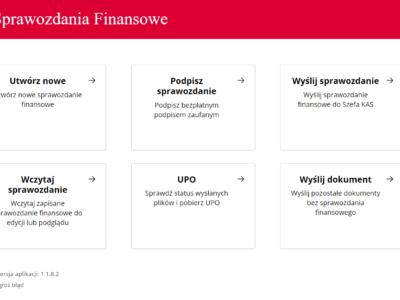 aplikacja do podpisywania sprawozdania finansowego